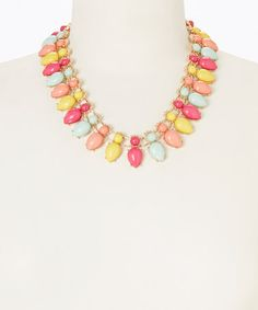 Another great find on #zulily! Pink & Yellow Rainbow Rhinestone Lights Necklace by Pepper Loves Mint #zulilyfinds