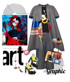 """Graphic Art"" by naturalbornstyler ❤ liked on Polyvore featuring Valentino, J.W. Anderson, Delpozo, Pollini, Preen, Delfina Delettrez, cape, summertofall and fall2015"