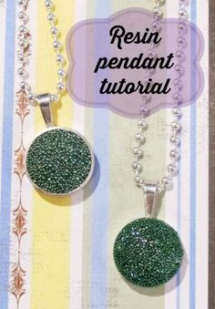 Resin pendant with glass beads tutorial