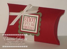 Christmas Pillow Box by DannieGrvs - Cards and Paper Crafts at Splitcoaststampers