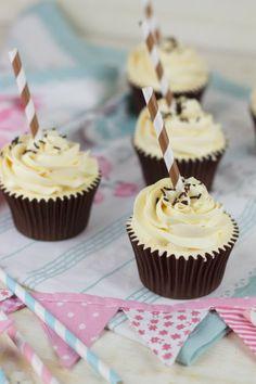 Irish Coffee Cupcakes with Amaretto