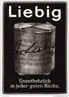 Original-Werbung/ Anzeige 1907 -  LIEBIG'S FLEISCH - EXTRAKT - ca. 80 x 120 mm