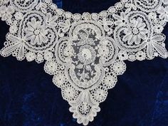 Gorgeous Point de Gaze Brussels Antique Victorian Lace Collar   eBay