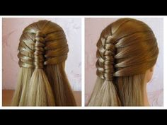 Hairstyle for long hair with twist braid. Updo tutorial - YouTube