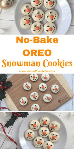 How to Make 10-Minute Snowman Oreo Cookies!  Recipe and how to included in the post! These are so easy and super cute !