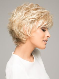 Voltage by Raquel Welch Wigs Shaggy Short Hair, Short Hair Cuts, Short Hair Styles, Hair A, Hair Type, Her Hair, Raquel Welch Wigs, Pale Blonde, Short Wigs