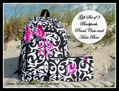 Hey, I found this really awesome Etsy listing at http://www.etsy.com/listing/153146504/gift-set-of-3-matching-black-damask
