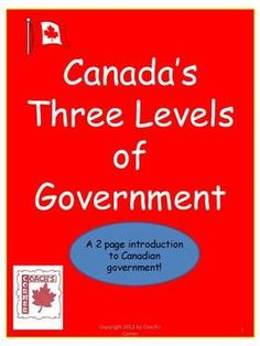 **Use as a Compare and Contrast Venn Diagram with American Branches of Government***Canada's Three Levels of Government Freebie is intended to acquaint students with the federal, provincial/territorial, and municipal governments wh. Social Studies Games, 6th Grade Social Studies, Teaching Social Studies, Social Skills, Levels Of Government, Government Lessons, Introduction Activities, Teaching Time, Teaching Ideas