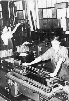 Weapons production. Lithgow Small Arms Factory. Early 1940s.