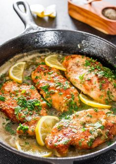 Lemon Chicken Piccata - a simple yet super impressive chicken piccata in a tasty lemon, butter and capers sauce. Perfect with pasta for a delicious dinner.
