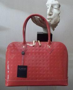 Arcadia Salmon Patent Leather Satchel Handbag Italian | eBay
