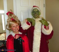 The Grinch and Cindy Lou Who - Homemade Halloween Costumes