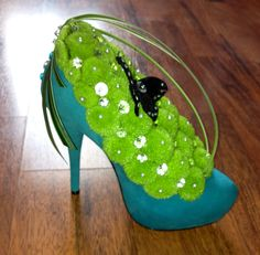 Shoe flower arrangement.