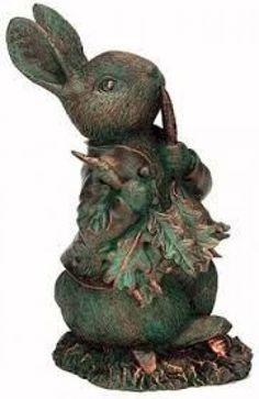 Peter Rabbit Garden Art / Resin with a patina bronze finish. Beatrix Potter, Rabbit Garden, Rabbit Art, Garden Statues, Garden Sculpture, Rabbit Sculpture, Peter Rabbit And Friends, Bunny Art, Bunny Pics