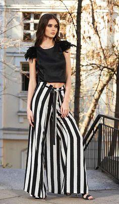 Plus Size Pants Striped Pants Steampunk Clothing Futuristic Steampunk Pants, Steampunk Clothing, Maxi Pants, Palazzo Pants, Long Pants, Affordable Clothes, Affordable Fashion, Plus Size Steampunk, Boho Outfits