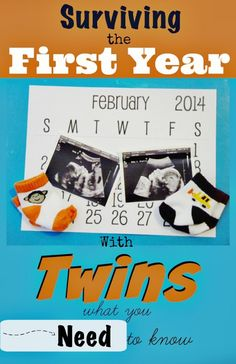 Great advice for mothers expecting or who have newborn twins to help you through their first year from a mother of 4