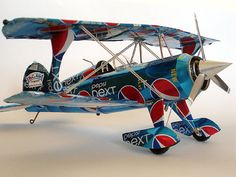 Pitts biplane made from aluminum cans by RKAluminumCrafts on Etsy