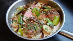 Pepperbiff i fyldig konjakksaus Tzatziki, Frisk, Sashimi, Different Recipes, Food Inspiration, Potato Salad, Recipies, Pork, Turkey