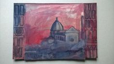 Firenze Duomo notturno gouache - cristina gemellaro