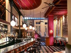 City Hall Restaurant, TriBeCa, NYC.  Beautiful venue, great drinks, and pretty good food.