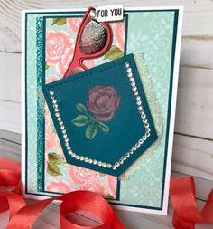Denim Pocket Rose.... | Rambling Rose Studio | Billie Moan
