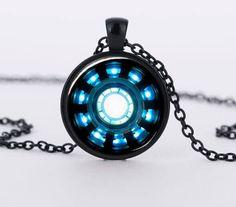Iron Man Arc Reactor Pendant Glass Necklace