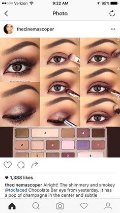 Chocolate bar too faced tutorial Wanna see mor MakeUp Tutorials and ideas? Just tap the link! #makeup #makeupideas