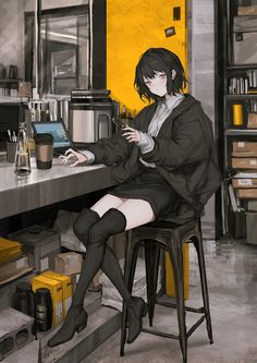 Too Tired to Work [Original] – Anime Tasty Thighs Character Design, Character Art, Cute Art, Art, Anime, Anime Characters, Anime Artwork, Anime Drawings, Anime Style