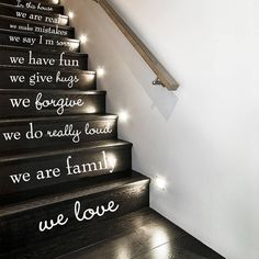 Wall Decal Vinyl Sticker Decals Art Decor by CreativeWallDecals, $28.99 Would be cool for basement steps!