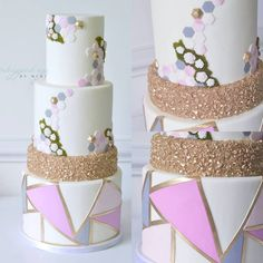 by Whipped Up by Mimi Metallic Wedding Cakes, Special Occasion, Special Holidays, Presents, Create, Cards, Gifts, Husband, Decorations