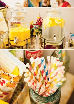 Children's Book Baby Shower // Hostess with the Mostess®. Love the colored straws Kylie Baby Shower, Baby Shower Drinks, Baby Shower Games, Shower Baby, Storybook Baby Shower, Storybook Party, Book Shower, Couples Baby Showers, Baby Wedding