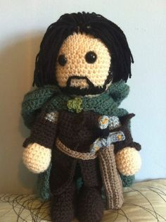 Aragorn Lord of the Rings Inspired Amigurumi by JustAddAwesome, £35.00