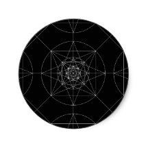 Third Dimensional Sacred Geometry Classic Round Sticker