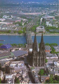 Postcard received from Germany - Köln am Rhein