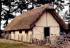 Medieval peasant's farm house.