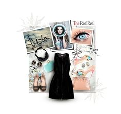 """TheRealReal Winter Shimmer"" by caroline-brazeau ❤ liked on Polyvore featuring Oscar de la Renta, Yves Saint Laurent, Valentino, Prada, Christian Louboutin, Kenneth Jay Lane, Tiffany & Co., Alaïa, Winter and beoriginal"