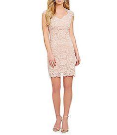 Jump ScallopedTrim Lace Dress #Dillards