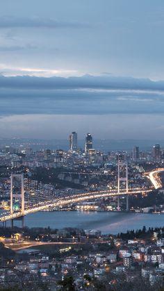 iPhone 6 Plus - Man Made/Istanbul - Wallpaper ID: 618678 - Stunning Wallpapers, Beautiful Nature Wallpaper, Iphone Wallpaper Istanbul, Places To Travel, Places To Visit, Bosphorus Bridge, Istanbul Travel, City Aesthetic, Hagia Sophia