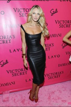Fabulous leather dress - after an awful lot of workouts, I could see myself in this!