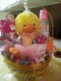Babys first easter basket holidays pinterest easter baskets my baby first easter basket negle