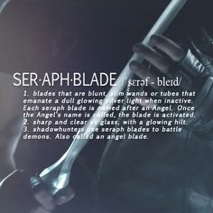 City of bones : the mortal instruments I wish I could own a seraph blade