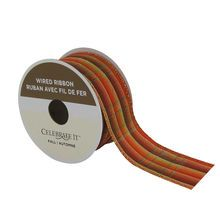 "1.5"" Metallic Wired Plaid Ribbon By Celebrate It™"