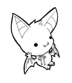 Cute Halloween Bat Drawings Wallpapers Kawaii Drawings Cute Drawings