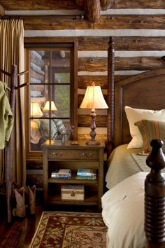 Cabin home decor cozy cabin bedroom with interior window cabin home decor bedroom rustic cottage french . cabin home decor Home Decor Bedroom, Home, Home Bedroom, Cabins And Cottages, Log Cabin Bedrooms, Cabin Living, Home And Living, Rustic Bedroom, Rustic House