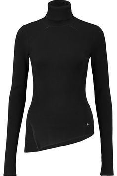 KARL LAGERFELD Shelby Ribbed-Knit Turtleneck Sweater. #karllagerfeld #cloth #sweater