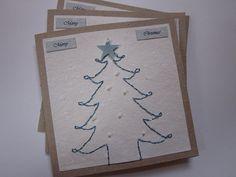 Handmade Christmas Card  Handmade Holiday Card  100 by ElodiesShop, $15.00
