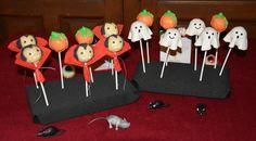 Cake pops Halloween. Vampiro, fantasma y calabaza.