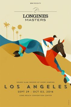 Poster design for Longines Masters by Riccardo Guasco via Behance. Creative Poster Design, Creative Posters, Graphic Design Posters, Graphic Design Inspiration, Flat Design Poster, Style Inspiration, Series Poster, Poster S, Poster Prints