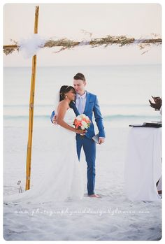 Photography & Design By Lauren- an on location photographer specializing in Weddings, Couples, High School Seniors, Families and Models based in Indiana 502.230.1907   An October wedding on the beach, Destin Florida   beach wedding   wedding arch