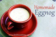How to make Homemade Eggnog. Make a creamy homemade version of Egg Nog for your family to enjoy this holiday season! Christmas Drinks, Christmas Desserts, Holiday Treats, Holiday Recipes, How To Make Eggnog, Yummy Drinks, Yummy Food, Homemade Eggnog, Eggnog Recipe